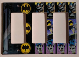 Batman Comics USPS Stamps Light Switch Power Outlet Wall Cover Plate Home decor image 9