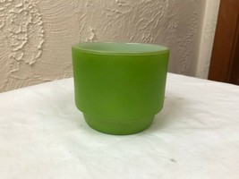 Vintage Anchor Hocking 6 ounce Oven Proof Dinnerware Cup Green - $5.86