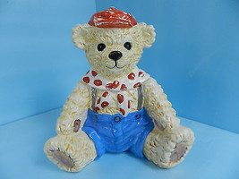 Vintage Teddy Bear Cookie Jar Heritage Mint Ltd. with Asian Marking - $44.91