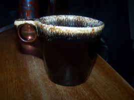 Vintage Brown Drip Coffee Mug. Oven Proof, Made in USA Hull? - $4.50