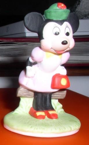 Disney Minnie Mouse Procelain  Bisque Miniature Figuine