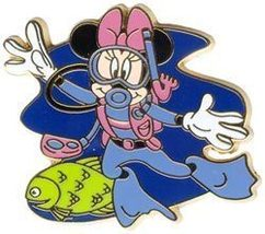 Disney Minnie Mouse Scuba Diving Never Sold Pin/Pins - $12.46
