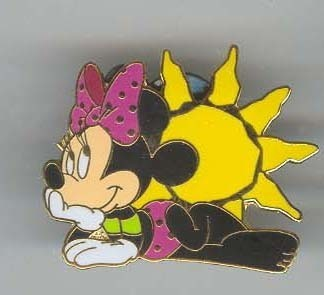 Disney Minnie Mouse with Sun rare never sold  PIN/PINS