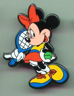 Disney  Minnie Mouse Tennis UK Plastic Pin/Pins