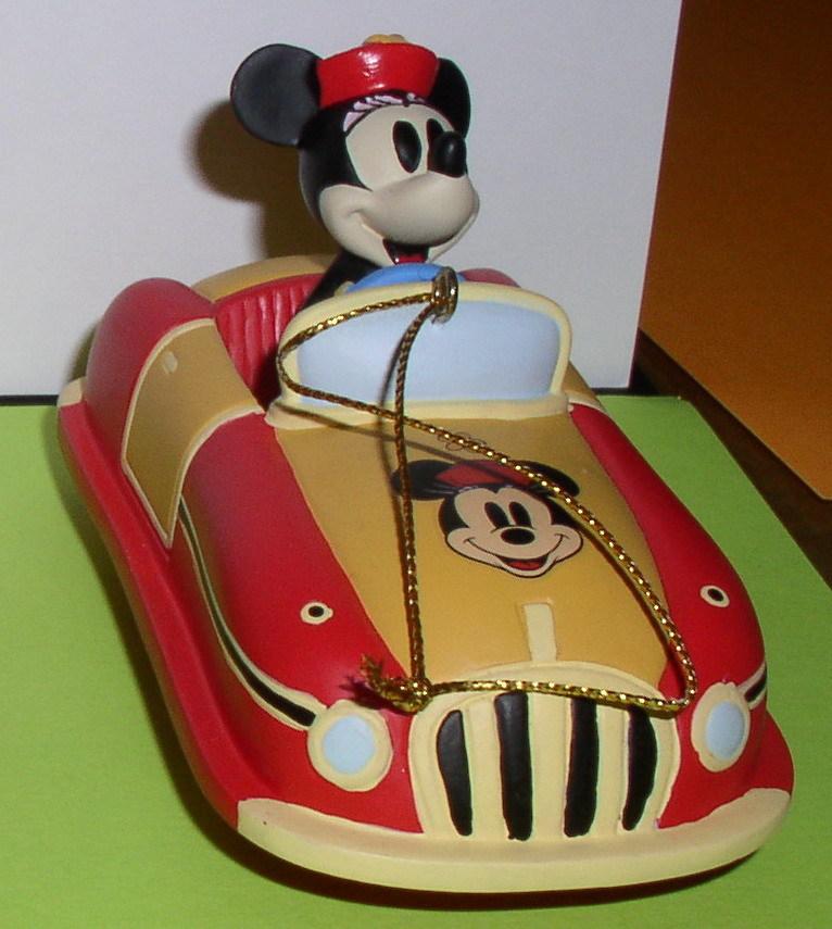 Disney Minnie Mouse race Car Ornament