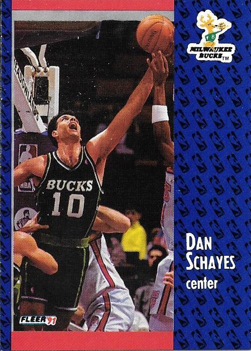 Dan Schayes ~ 1991-92 Fleer #119 ~ Bucks