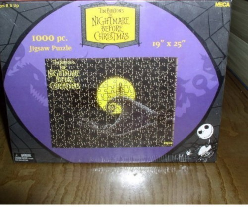 Disney  Nightmare Before Puzzle Jack on the hill