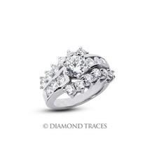 3.18ctw H-SI3 VG Round AGI Genuine Diamonds 14k Gold Classic Wedding Rin... - $4,321.35
