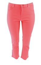 Isaac Mizrahi Icon Grace Ankle Jeans Passion Fruit 10P NEW A254295 - $29.68