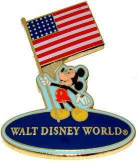 Primary image for Disney Patriotic USA Mickey Holding USA Flag  Pin/Pins