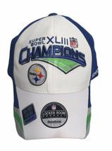 Reebok Pittsburgh Steelers Champions Hat Super Bowl XLIII 43 Locker Room... - $21.73