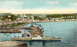The Pier Rothesay Scotland vintage Post Card - $6.00