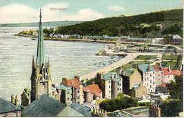 Rothesay Scotland Birdseye View vintage Post Card - $6.00