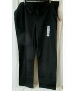 New Unisex Fit Cherokee Drawstring Medical Scrub Pants 4100 Black Sz Medium - $12.86