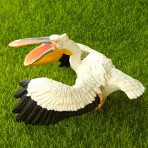Australian Pelican Water Bird White Lifelike Fairy Garden Terrarium Deco... - $10.99