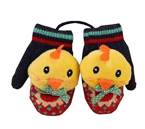 Durable Lovely Warm Gloves Useful Cute Winter Baby Mittens 126CM Multicolor