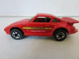 VTG DIECAST CAR HOT WHEELS 1989 TURBO PORSCHE 930 RED   H2 - $5.83