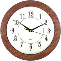 Timekeeper 6415 12 Wood Grain Round Wall Clock - $31.00