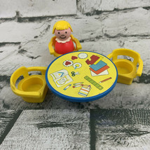 Vintage Fisher Price Little People Replacement Nursery School Table Chairs - $21.78
