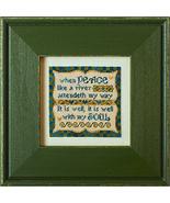 Peace Like A River cross stitch chart Erica Michaels - $13.50