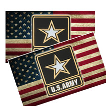 United States Army Star Distressed Flag Decals Pack Of Two - $4.54