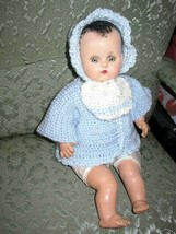 """1920-30s  R & B 17"""" Composition Baby Doll in Blue Knitted Sweater - $94.95"""