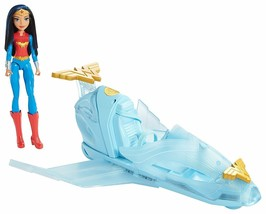 DC Superhero Girls Wonder Woman Doll & Invisible Jet Playset NEW - $21.98