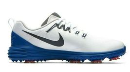 NIKE LUNAR COMMAND 2 GOLF SHOES WHITE/BLUE/RED SIZE 10 NEW W/BOX (849968-103)  image 4