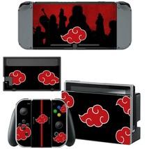 Nintendo Switch Console Dock Vinyl Skin Sticker Anime Naruto Akatsuki Red Clouds - $9.80