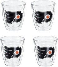 """NEW 4-Pack Tervis """"NHL Phila Flyers"""" Tumbler, 12 oz, Clear - $29.20"""