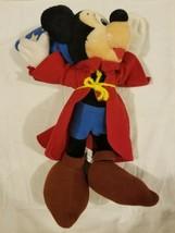 Vintage Walt Disney Fantasia Mickey Mouse Plush Stuffed Toy Sorcerer Plu... - $27.43