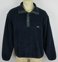 Woolrich Snap-T fleece jacket USA Made Navy Blue Mens Size L - $18.76