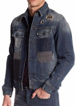 New with Tag - $898 Diesel Jim Patchwork Denim Jacket LIMITED EDITION Si... - $252.44