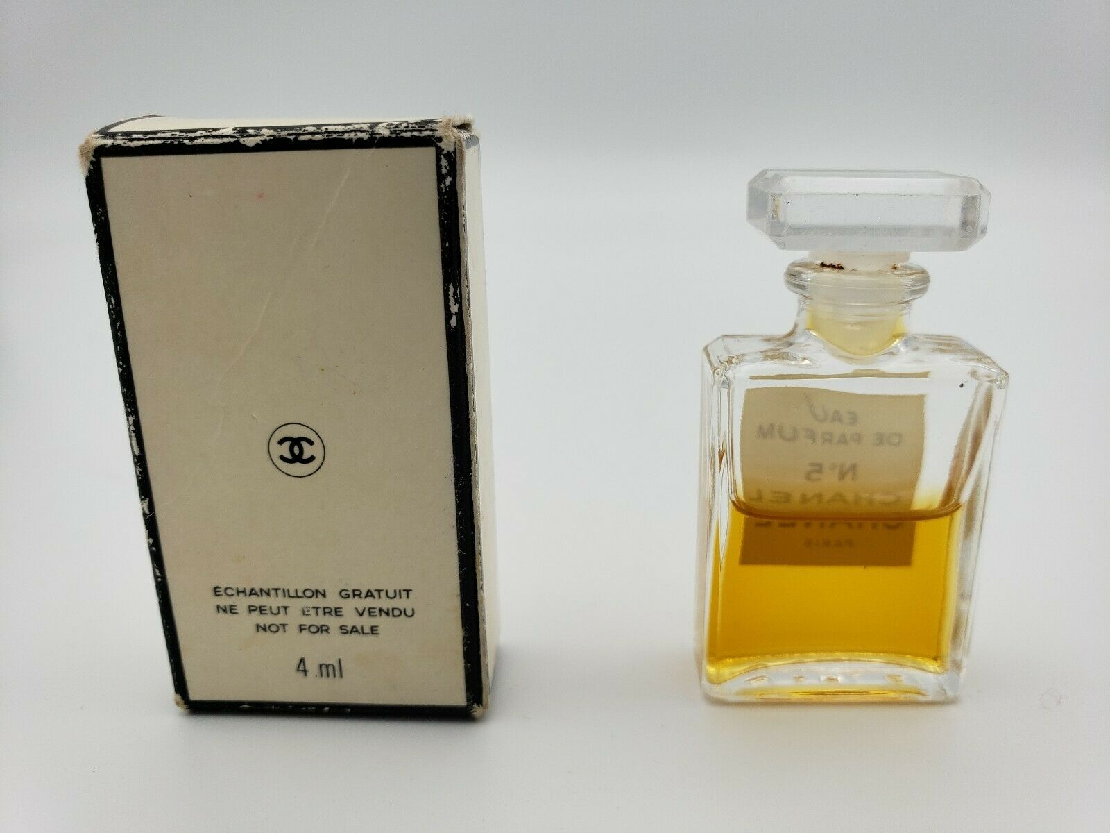 CHANEL NO. 5 Mini Miniature Eau de Parfum 60% Full Perfume .13 Oz w/ Box Vintage image 3