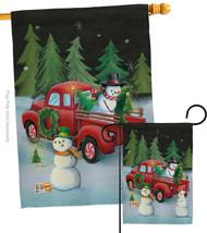 Picking Christmas Tree - Impressions Decorative Flags Set S114208-BO - $57.97