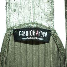 Fashion Nova Olive Green Lace Back Spaghetti Strap Cami Tank Top Size M image 3