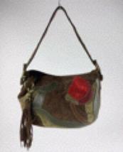 Coach suede floral shoulder bag  - $125.00