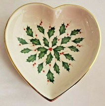 "Lenox Holiday Archive 5"" Heart Shaped Candy Dish - $18.70"