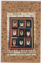 Da Po Cats Applique Wall Hanging Craft Pattern - $6.99