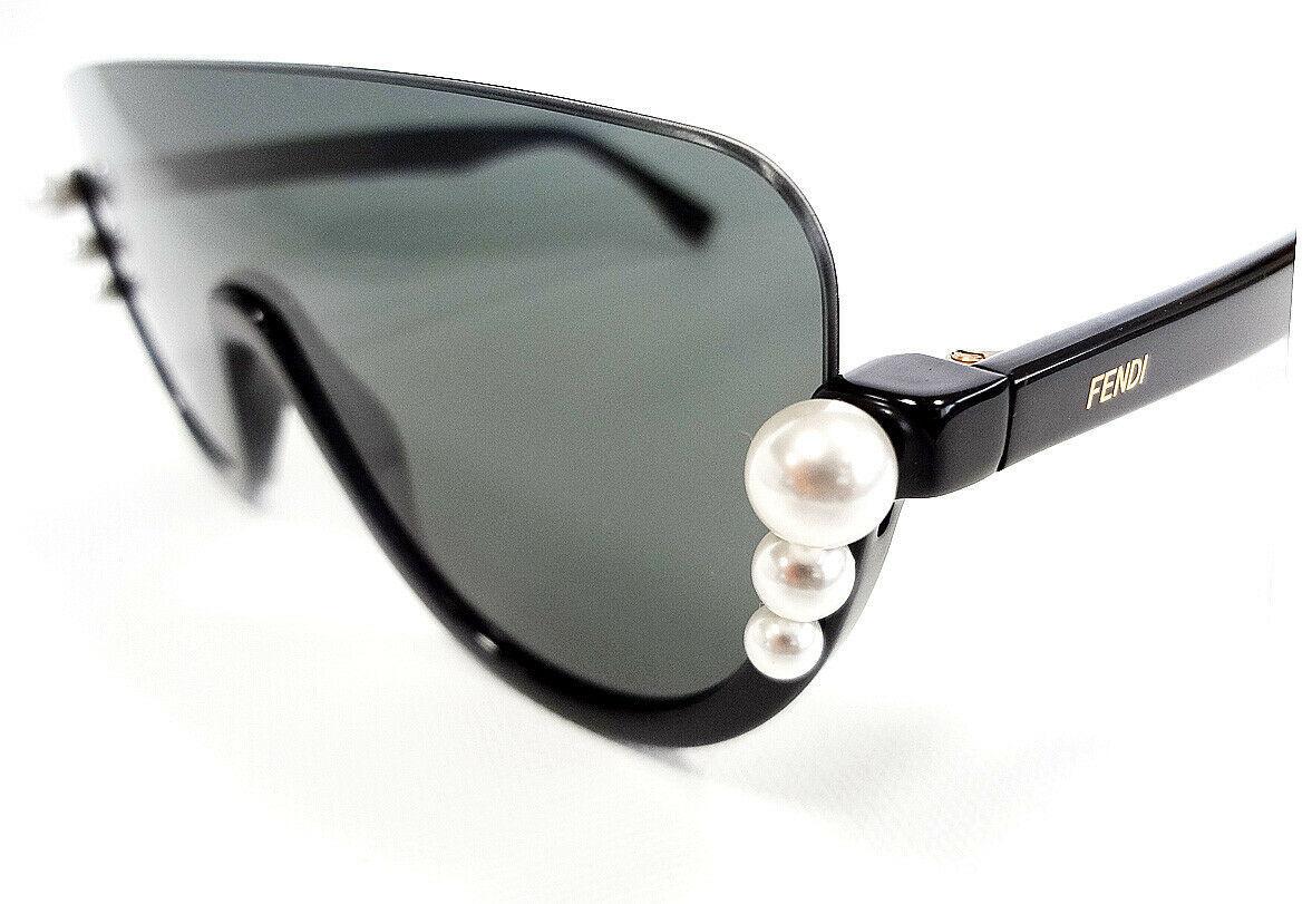 FENDI Women's Sunglasses FF0296/S 807 Black 140 MADE IN ITALY - New!