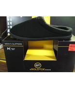 """AUTHENTIC""""GOLDTOE"""" MEN'S BLK. soft textile INDOOR/OUTDOOR SLIPPERS - $18.76"""