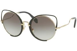 MIU MIU SQENIQUE Black Pale Gold Grey Gradient Oversized Sunglasses MU51TS - $185.77