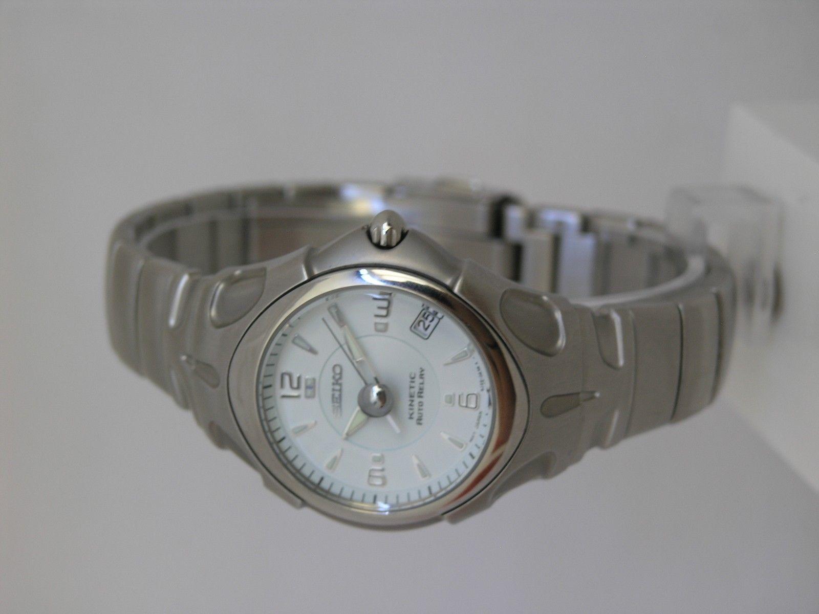 Seiko watch stainless steel kinetic movement 5J22 SMA013