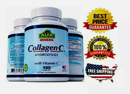 Natural Collagen Colageno Hydrolysate Vitamin C Bones Joints Nails Hair Organic - $32.25