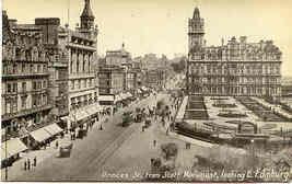 Princes Street East Edinburgh vintage Post Card - $7.00