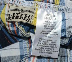 Little Rebels Surf Club Short and Shirt Set Orange Plaid Size 2T image 5