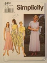 Simplicity Pattern 8507  Dress & Jacket Size  12 - 16 Un-Cut Pre-owned - $9.00
