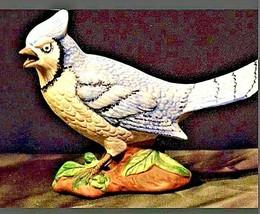 Vintage Blue Jay handmade animal figurine AA19-1418 image 2