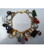 Circus Charm Bracelet Anklet Semiprecious stone plated - $29.95