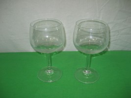 Pair of Clear Crystal Glassware Stemware Long Stem Wine Glass Goblet - 6... - $9.85